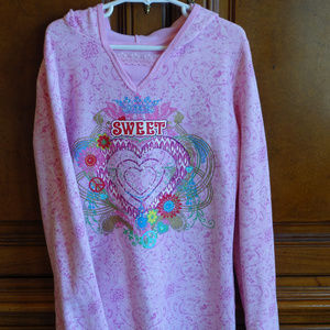 Children's Place Pink Sweet Hoodie Size L 10/12